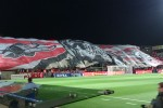 Hapoel fans before the game.